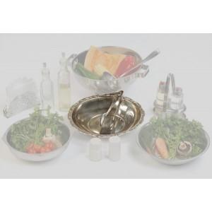 Fuentes y ensaladeras metálicas - Pinza para ensalada inoxidable