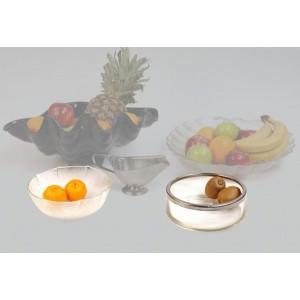 Fuentes y ensaladeras acrílico, vidrio y madera