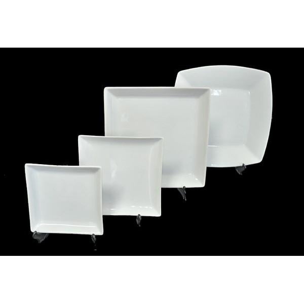 Astesiano alquiler de vajilla platos cuadrados for Platos cuadrados de porcelana