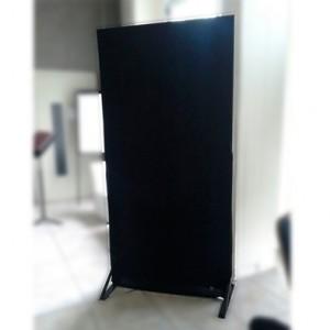 Biombo metálico negro