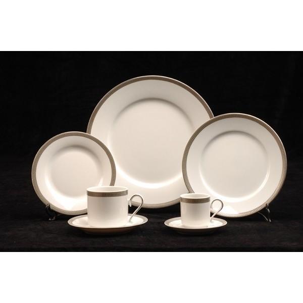 Astesiano alquiler de vajilla platos verbano silver for Platos vajilla